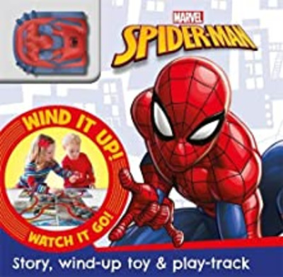Spiderman : story, wind-up toy & play-track